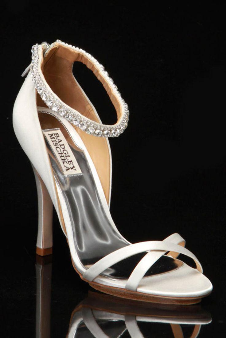badgley mischka decadence shoe in white