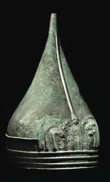 Urartian helmet, circa 9th-8th century B.C. 31 cm high. Private collection, from Christie's auction
