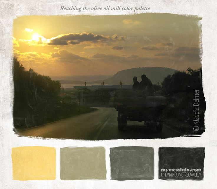 Reaching the olive oil mill color palette | My Messinia