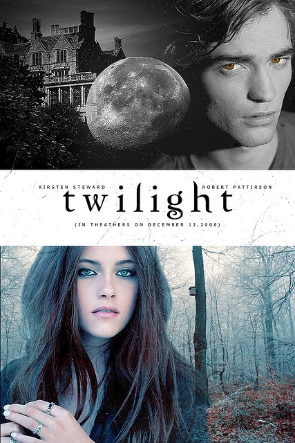 Twilight Move Poster Featuring Edward Cullen And Bella Swan....