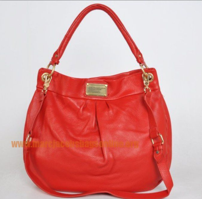 Cheap Marc Jacobs Classic Q Hillier Hobo Red $171.50-marcjacobsbagsonline.org