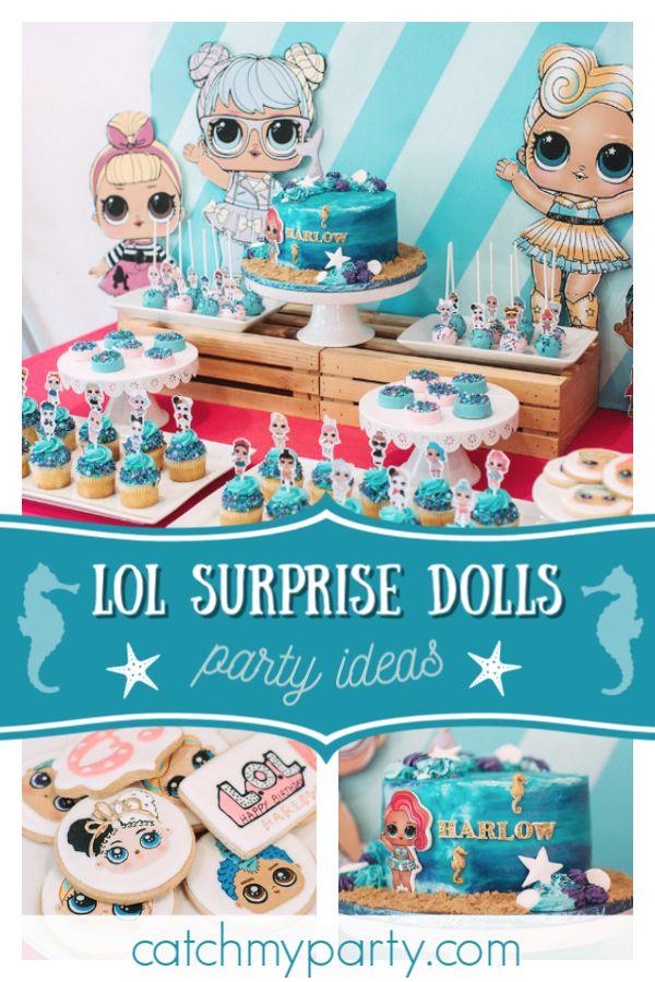 Schau dir diese süße LOL Surprise Dolls Geburtstagsfeier an! Ich liebe die Cake Pops !! …   – L.O.L. Suprise Dolls Party Ideas