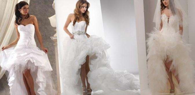 Мини свадебные платья со шлейфом - http://1svadebnoeplate.ru/mini-svadebnye-platja-so-shlejfom-3572/ #свадьба #платье #свадебноеплатье #торжество #невеста