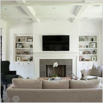 Living Room Layout Built Ins Slate Surround Tv Over Fireplace Rectangular Living Rooms Livingroom Layout Furniture Placement Living Room