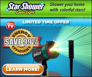 The amazing inexpensive way to decorate your house this holiday season star light projector http://www.infomercials-tv.com/star-shower-laser-light/
