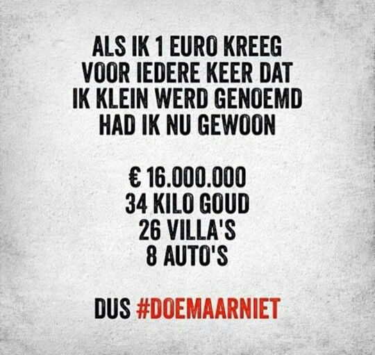Dus #DoeMaarNiet.