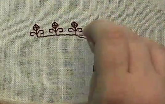 Top Ten Medieval Embroidery Stitches- #8 Double Running Stitch (from How To History...video collection of historic arts and crafts)