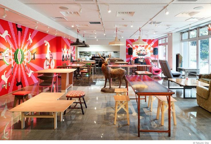 Llove Cafe / Takumi Ota: Inspiration Hotels,  Eateri, Interiors Architecture, Restaurant Spaces, Design Interiors, Fashion Art, Graphics Design, Eating Houses, Art Restaurant