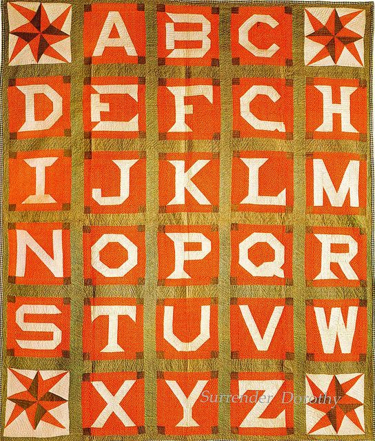 pieced alphabet quilt