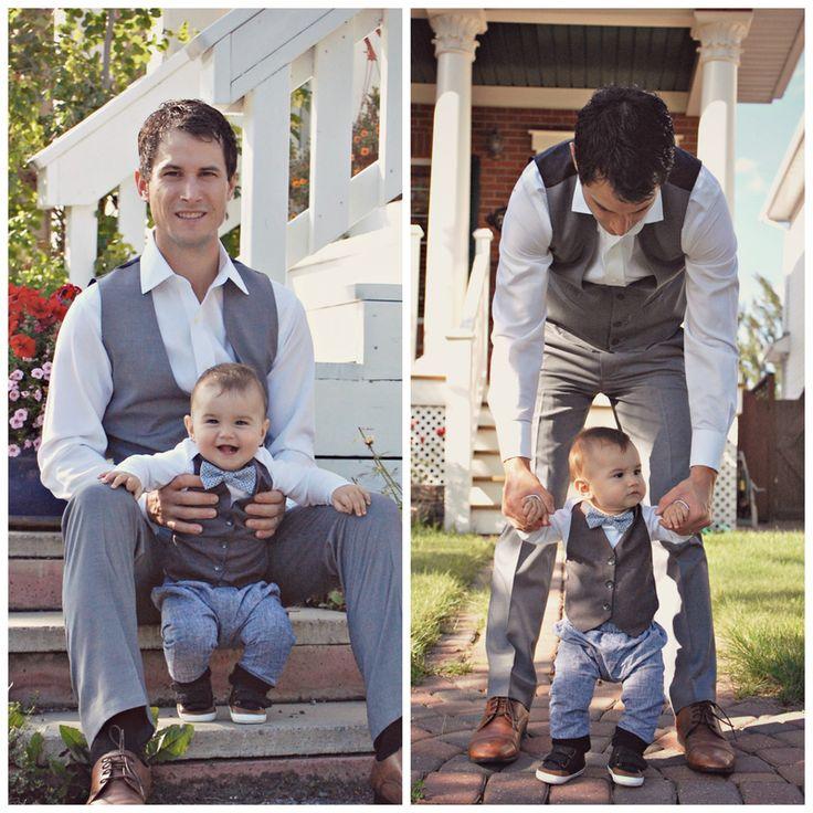 Dapper Onesie #diy #dapperbaby #babybowtie #babyvest #babyweddingoutfit