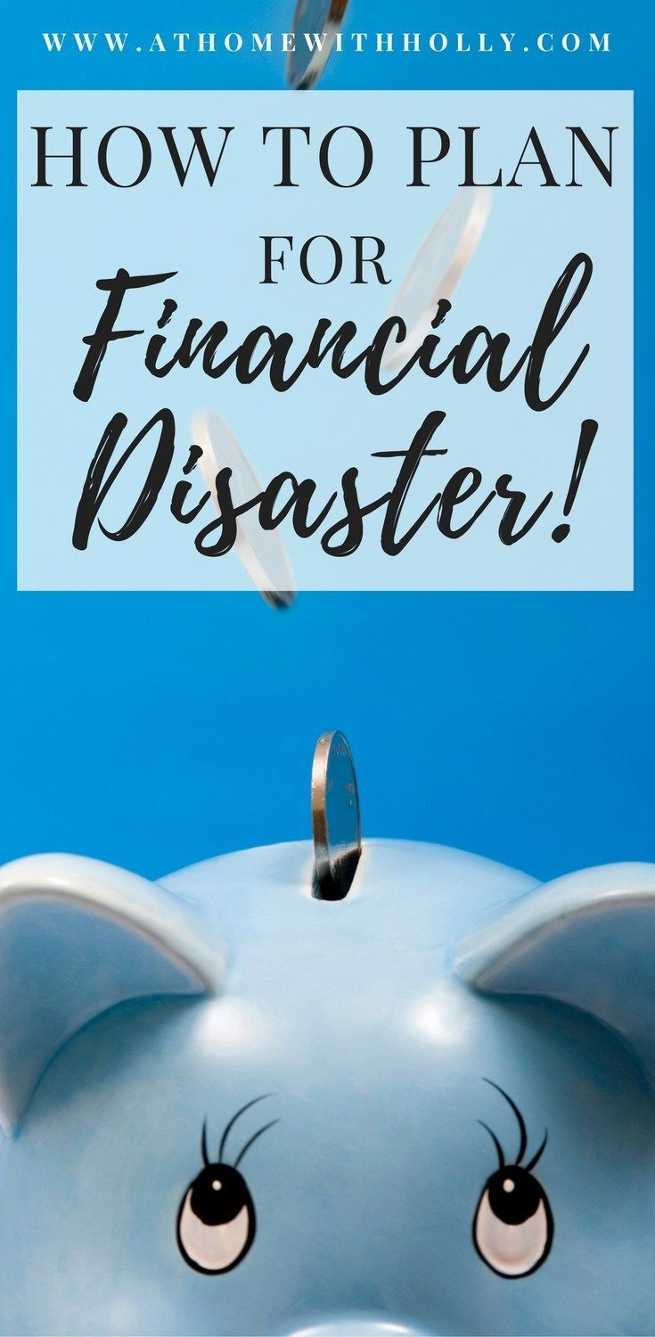 Financial Disaster Plan | At Home With Holly | Do you know what you would do if financial disaster ever struck? This is a great little 2 step plan for beginners on how to plan for emergencies!