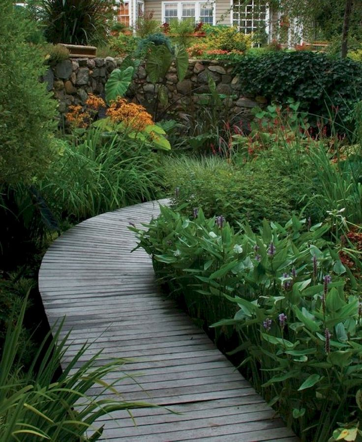 24 best bog containers images on pinterest for Easy garden path ideas