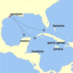 Cruising out of Galveston Texas has port excursions that allow