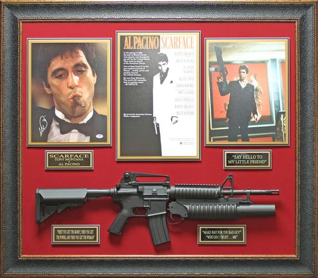 Al Pacino Scarface Autographed Framed Display