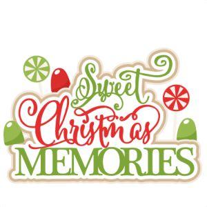 Sweet Christmas Memories Title Scrapbook Clip Art