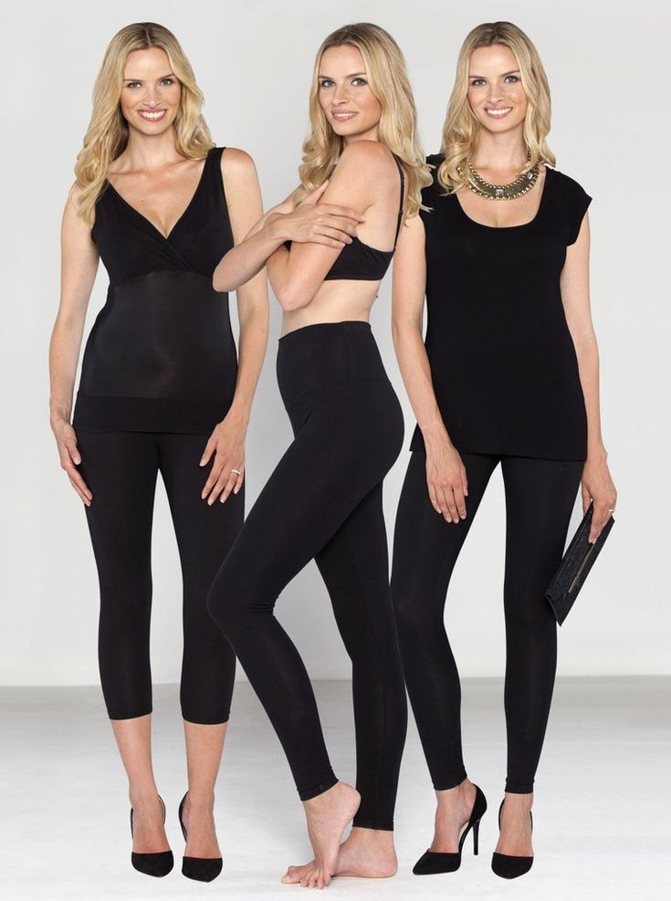 The Tummy Tight Nursing Shapewear Postpartum Kit, $150. The perfect 3-piece gift set for a new mother that also includes FREE SHIPPING. In the bundle is Tummy Control Leggings, V-Neck Nursing Support Tank and Cap Sleeve Tunic, packaged together in a free cotton bag.