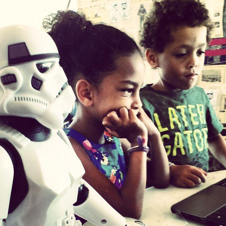 our three kids.....Marisol ben and stormtrooper......star wars!