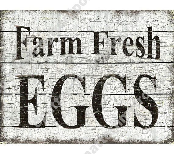 Printable Download Farm Fresh Eggs  by epatternmyfrontporch
