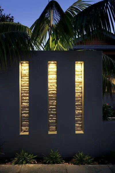 Pin By Zaynab Msuya On Home Backyard Lighting Fence Lighting Landscape Lighting