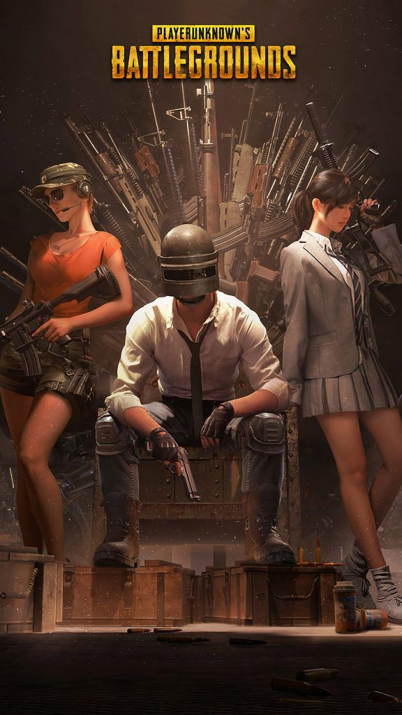 PUBG Helmet Guy With PUBG Girls
