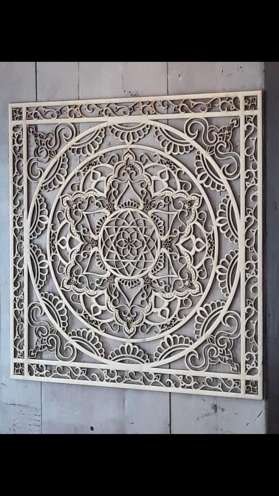 Mandala Wall Hanging Wood Décor Art Home