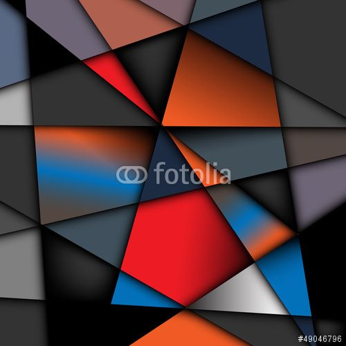 Abstract background, Effect glass painting, Geometric shapes ...