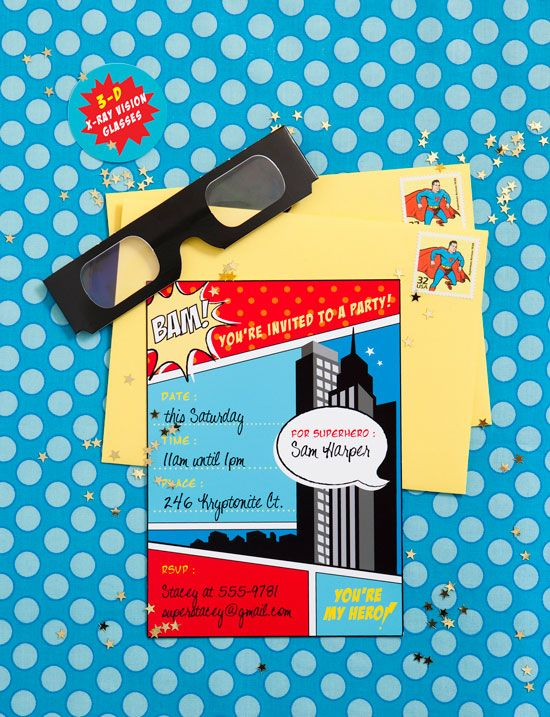 superhero party set - invitations, ideas, and kit full of printables: Superhero Party, Parties Stuff, Boys Birthday, Superhero Parties Invitations, Parties Ideas, Super Heroes Birthday, Super Heroes Parties, Superhero Birthday Parties, Birthday Ideas