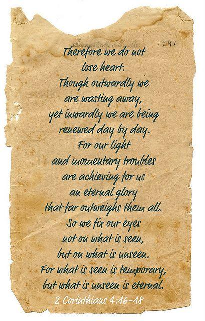 2 Corinthians4:46-48 by bella's little rose, via Flickr