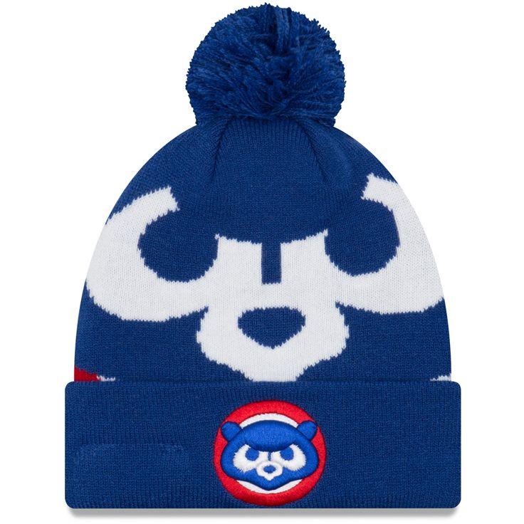 Chicago Cubs 1984 Logo Whiz 3 Pom Knit by New Era at SportsWorldChicago.com