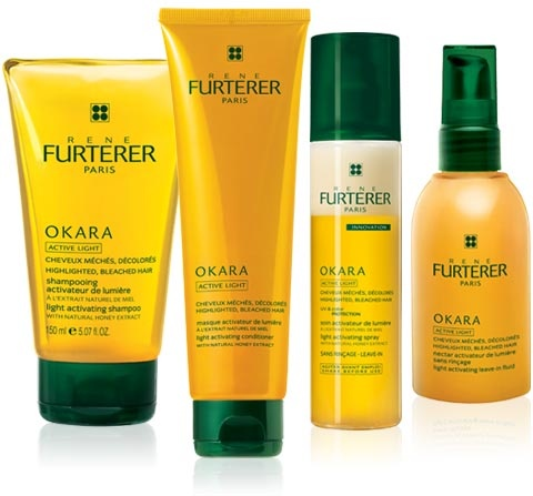 Rene Furterer Okara Active Light 3pc sample set, shampoo, conditioner, and leave-in fluid are .50oz each, NEW