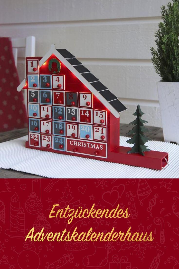 Weihnachtskalender Real.Best Season Adventskalender Advent House 8 Warmwhite Led 24