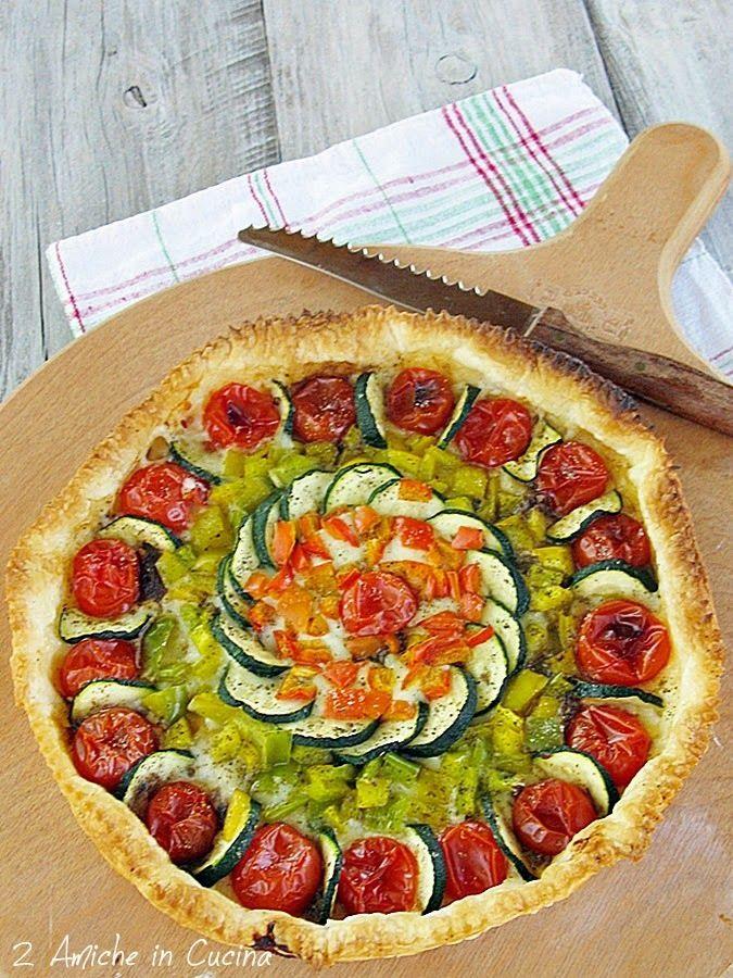 Torta Salata con Verdure e Asiago