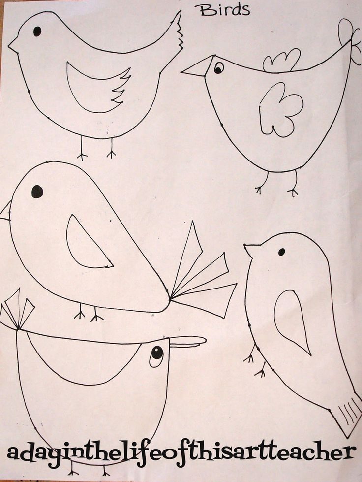 A day in the life of this art teacher: Birds and Birch Trees
