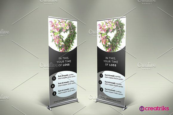 Funeral Services Roll Up Banner  @creativework247