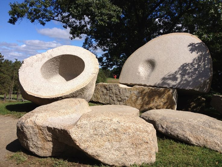 Noguchi installation at Storm King Art Center. Photo by C. Pruitt