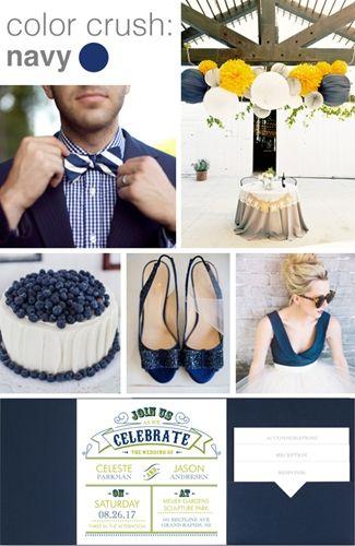 wedding style story: navy blue