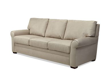 American Leather Co: makes a very comfortable sofa bed that takes up less floor space. Also has other fabric besides leather.