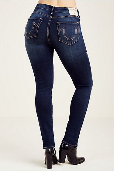 JENNIE CURVY MID RISE SUPER SKINNY WOMENS JEAN - True Religion