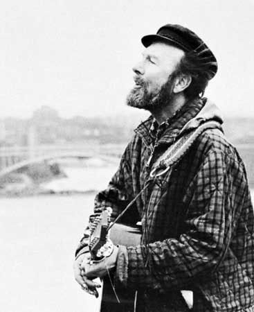 A father of folk music, Pete Seeger.