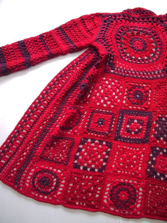 Crochet Patterns For Granny Square Sweaters : 1000+ ideas about Granny Square Sweater on Pinterest ...