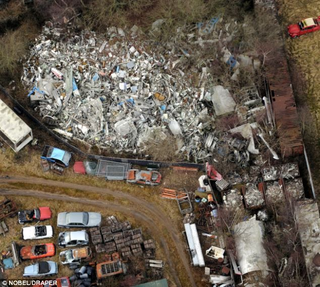 Remains: This pile of twisted metal is the wreckage of Pan Am Flight 103 -