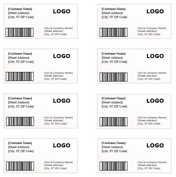 10+ Shipping Label Templates | Free Printable Word & PDF Formats ...