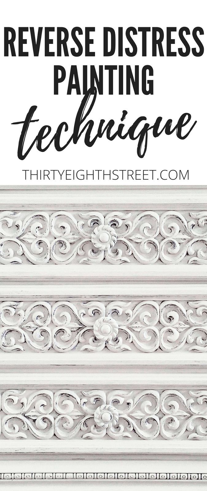 How To Paint and Distress Furniture Easily Using the Reverse Distress Painting Technique. Learn How To Distress Furniture Naturally with Reverse Distressing. | Thirty Eighth Street