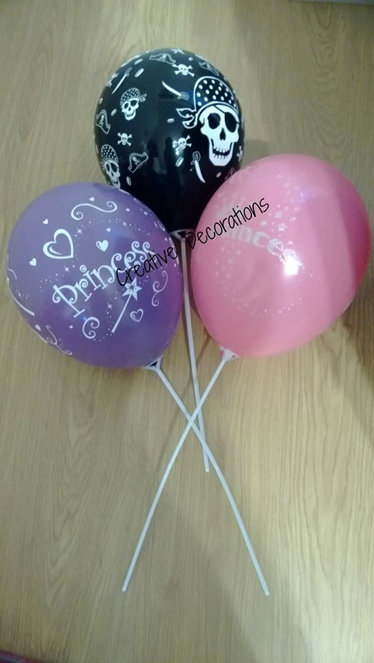 Princess & Pirate Party Balloons