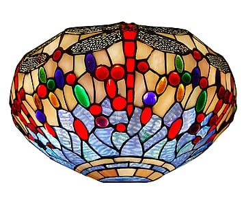 Applique da parete in vetro Dragonfly oro/azzurro - 36x18x18 cm