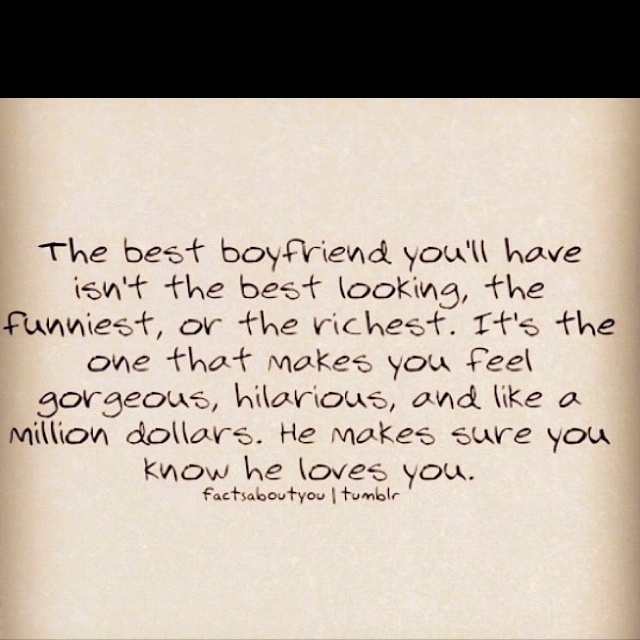 Even Though My Boyfriend Is Pretty Cute And Funny And Hope To Be