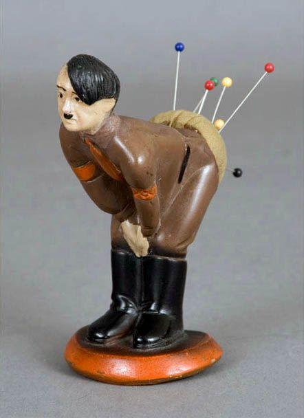 1941 Hitler Pin Cushion: History, Hitler Pincushion, Pin Cushions, Stuff, Funny, Pincushions, War