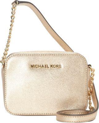 MICHAEL Michael Kors Jet Set Travel Crossbody Bag Pale Gold - #womens  #fashion #