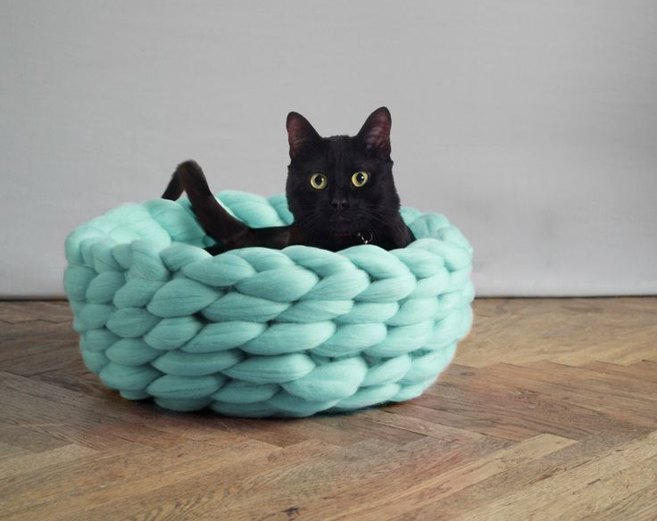 SUPER LUSH pet bed. Cozy basket for dog or cat. Many sizes and colors. 23 microns merino wool. 100% handmade. by Ohhio on Etsy https://www.etsy.com/listing/245275962/super-lush-pet-bed-cozy-basket-for-dog