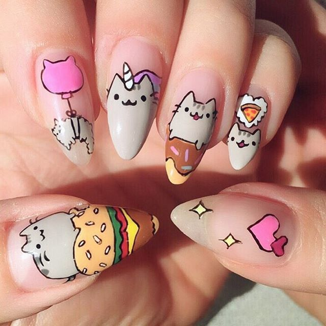 "nice @pusheen on Instagram: ""Wow! Check out this amazing Pusheen nail art by @i_heart_nailart """